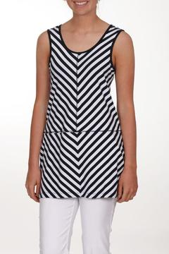 Dolcezza Navy Striped Tank - Product List Image