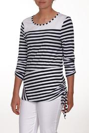 Dolcezza Navy White Top - Product Mini Image
