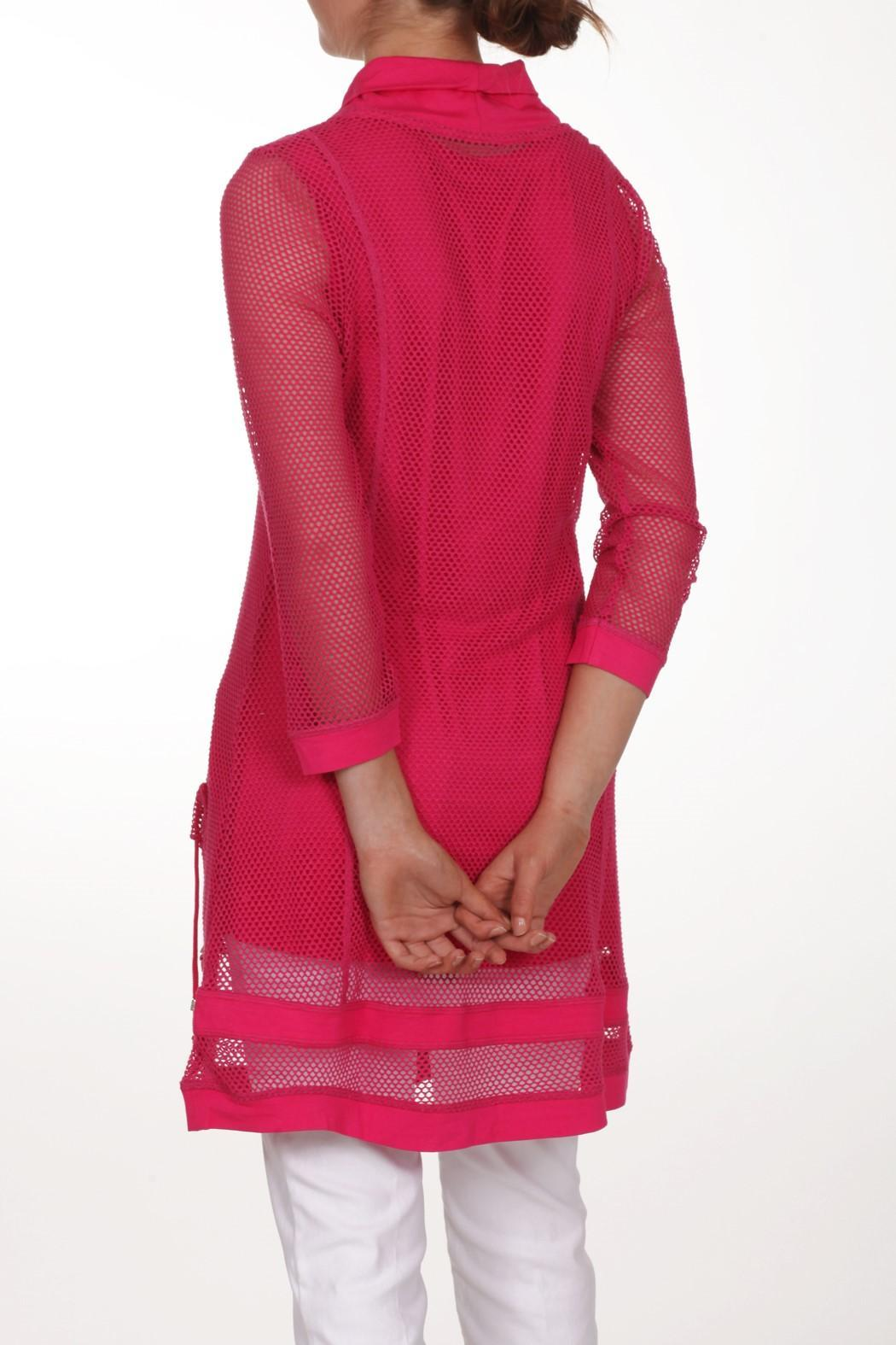Dolcezza Pink Mesh Tunic - Front Full Image