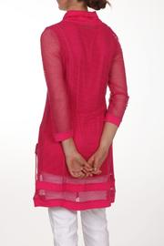 Dolcezza Pink Mesh Tunic - Front full body