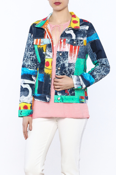 Dolcezza Print Jean Jacket - Product List Image
