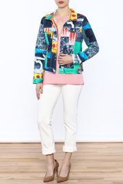 Dolcezza Print Jean Jacket - Front full body