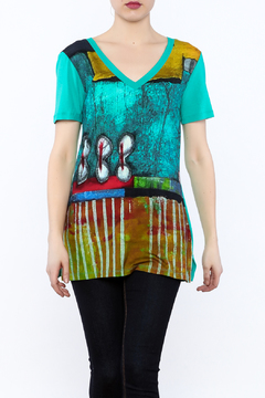 Dolcezza Colorful Tunic Top - Product List Image