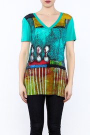 Dolcezza Colorful Tunic Top - Side cropped
