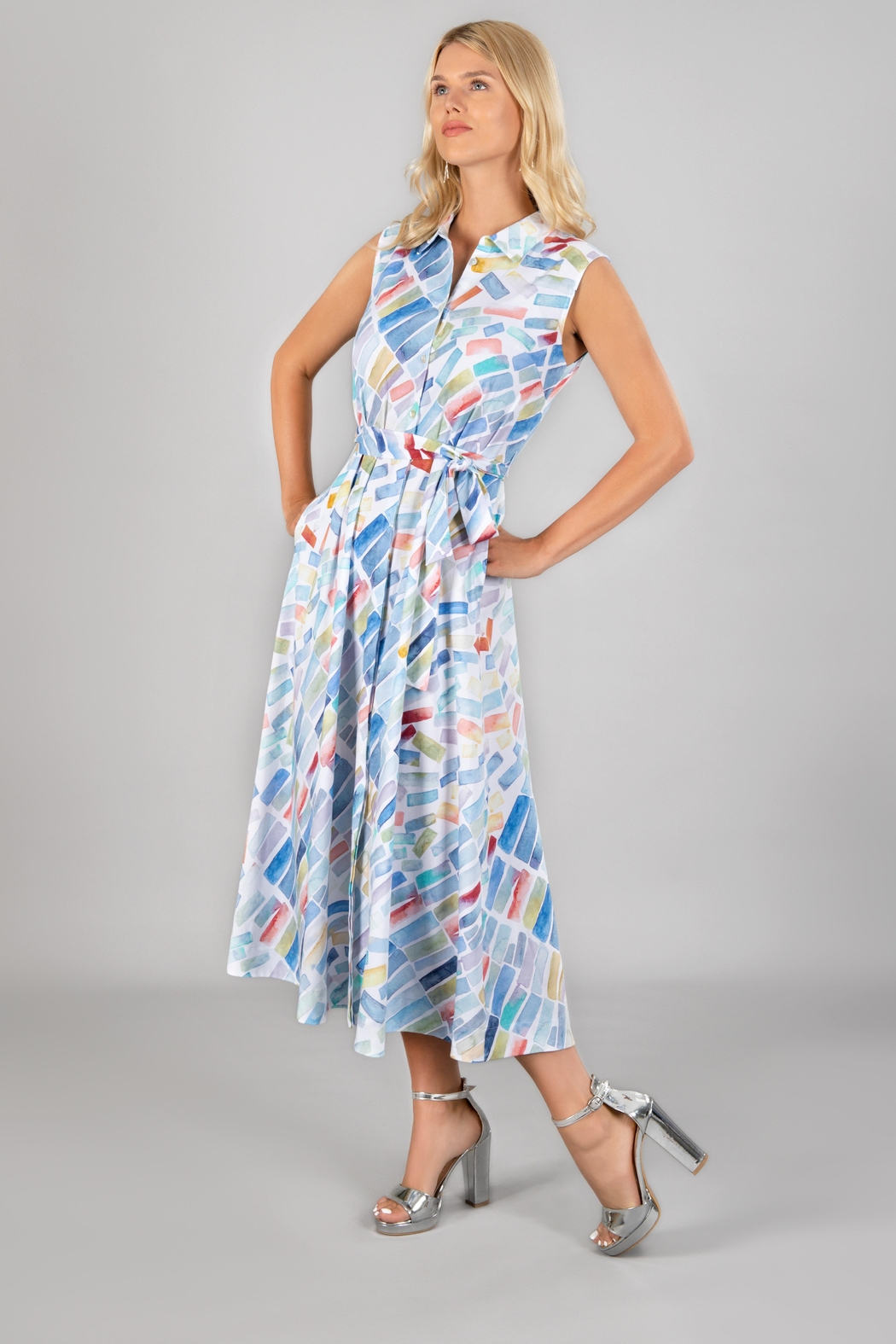 Dolcezza Summer Maxi Dress - Front Full Image