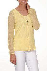 Dolcezza Yellow Mesh Jacket - Front cropped