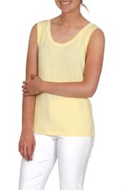 Dolcezza Yellow Sleeveless Top - Product Mini Image