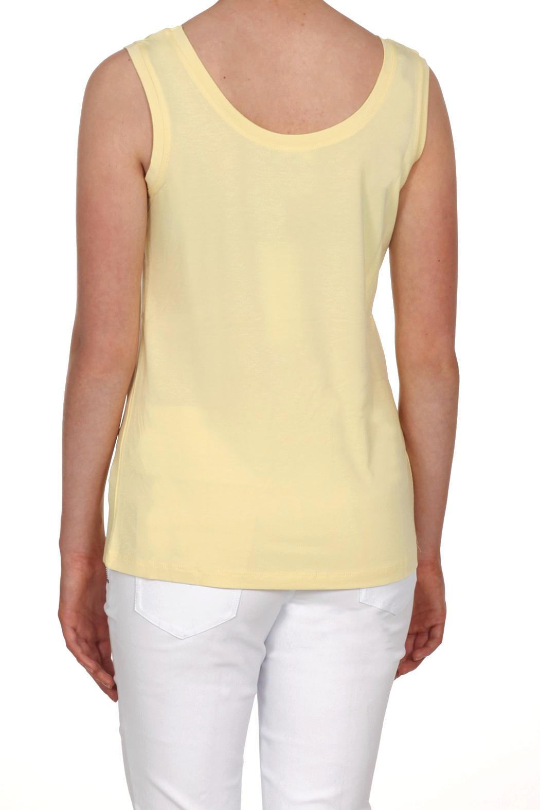 Dolcezza Yellow Sleeveless Top - Front Full Image