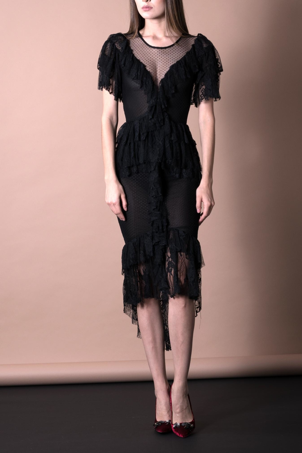 DOLCICIMO Black Lace Dress - Main Image