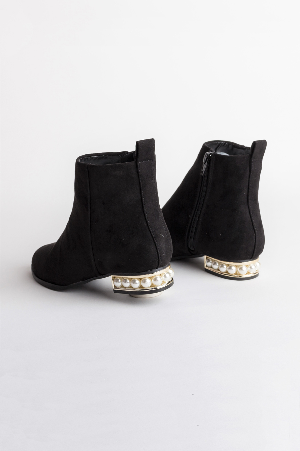 DOLCICIMO Black Pearly Bootie - Front Full Image
