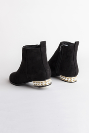 DOLCICIMO Black Pearly Bootie - Front full body
