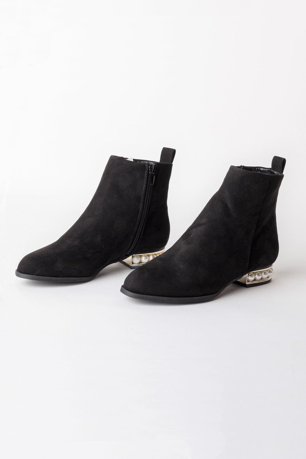 DOLCICIMO Black Pearly Bootie - Main Image