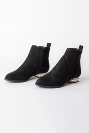 DOLCICIMO Black Pearly Bootie - Front cropped