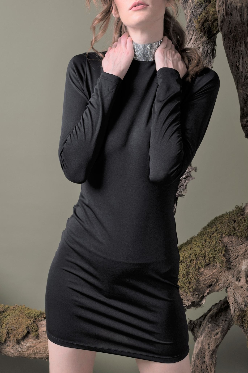 DOLCICIMO Black Sexy Dress - Side Cropped Image