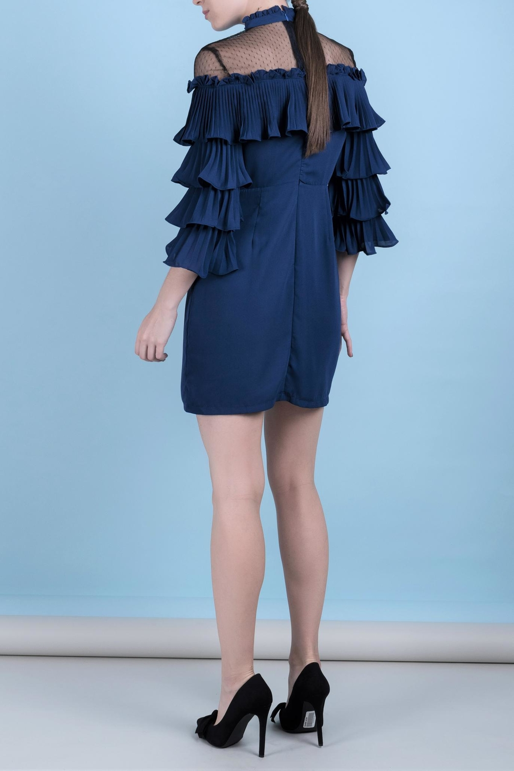 DOLCICIMO Blue Romantic Dress - Front Full Image