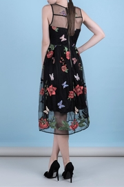 DOLCICIMO Embroidered Organza Dress - Front full body