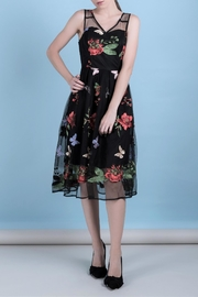 DOLCICIMO Embroidered Organza Dress - Product Mini Image
