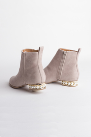 DOLCICIMO Nude Pearly Bootie - Side cropped