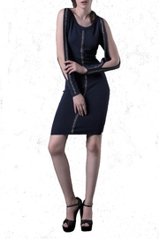 DOLCICIMO Open-Sleeve Navy Dress - Product Mini Image