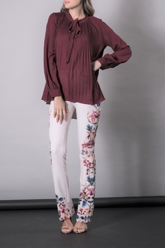 Shoptiques Product: Red Fluffy Blouse