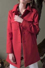 DOLCICIMO Sofia Red Coat - Side cropped