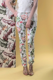 DOLCICIMO White Floral Pant - Product Mini Image