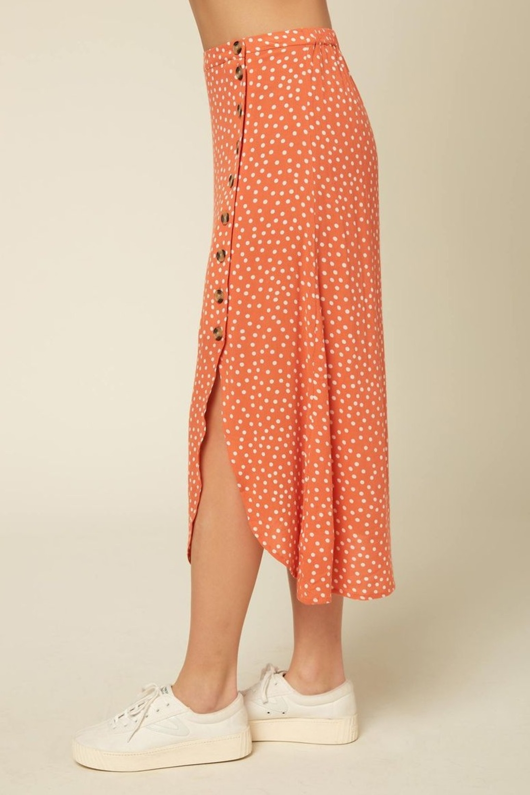 O Neill Dolina Button Skirt - Side Cropped Image