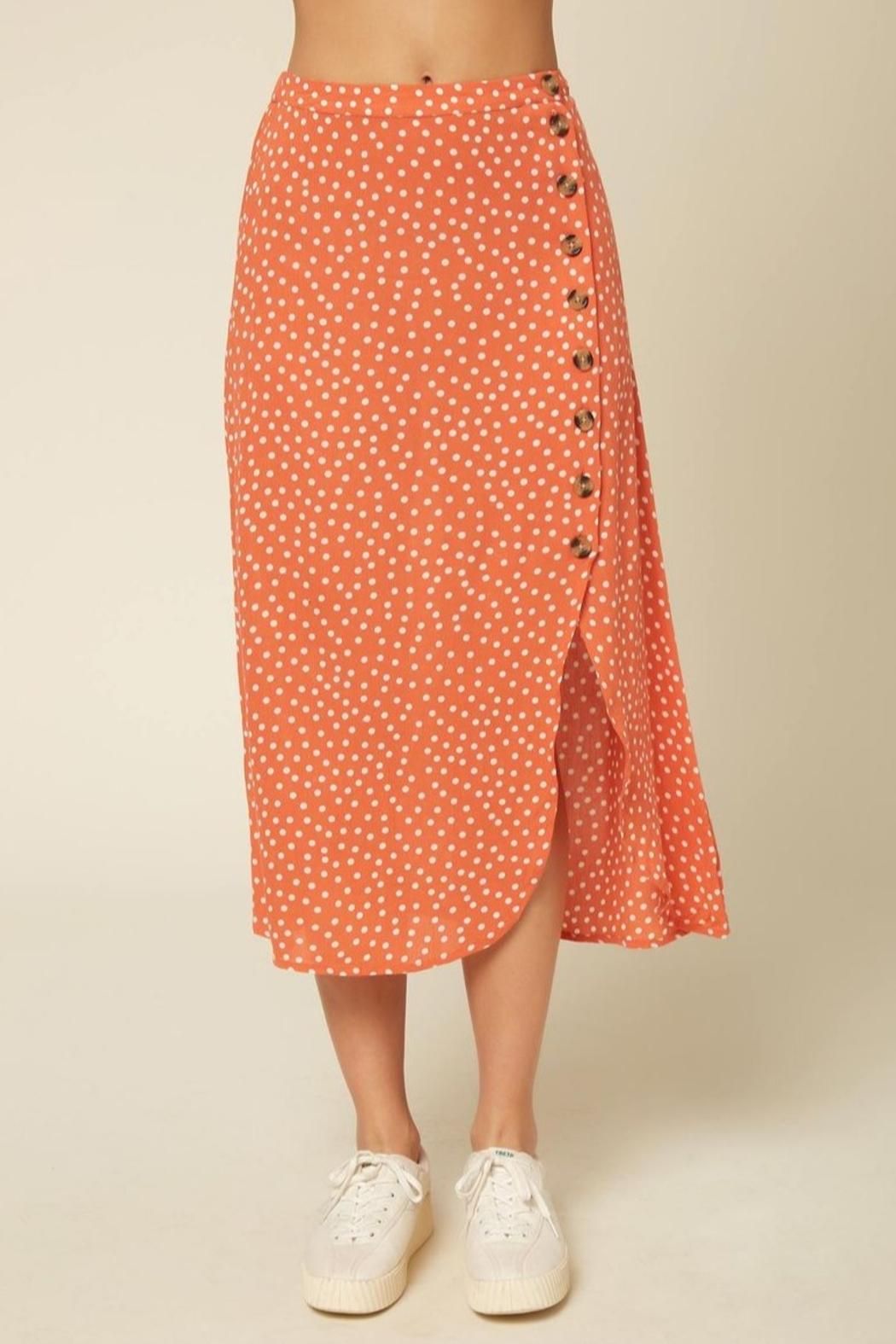 O Neill Dolina Button Skirt - Front Full Image