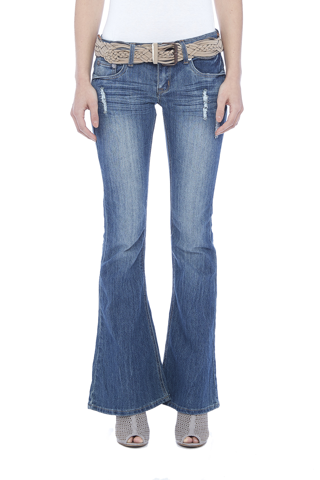 Dollhouse Low Rise Flare Jeans - Side Cropped Image