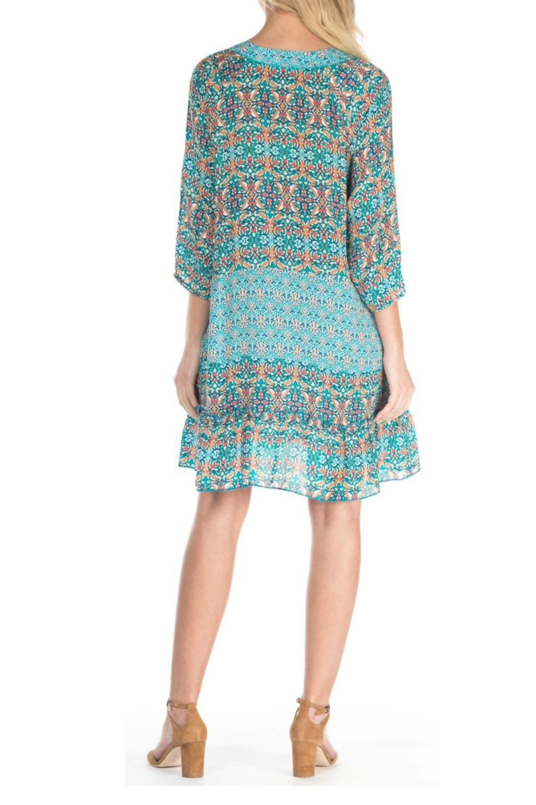 Tolani Dolly Turquoise Dress - Front Full Image