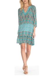 Tolani Dolly Turquoise Dress - Front cropped