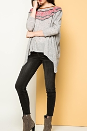 THML Clothing Dolman Embroidered Sweater - Product Mini Image