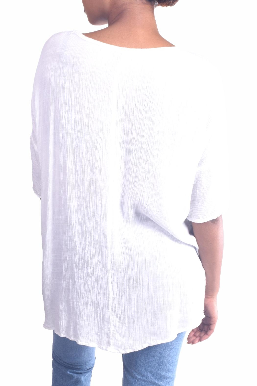 Final Touch Dolman Gauze Tunic - Side Cropped Image