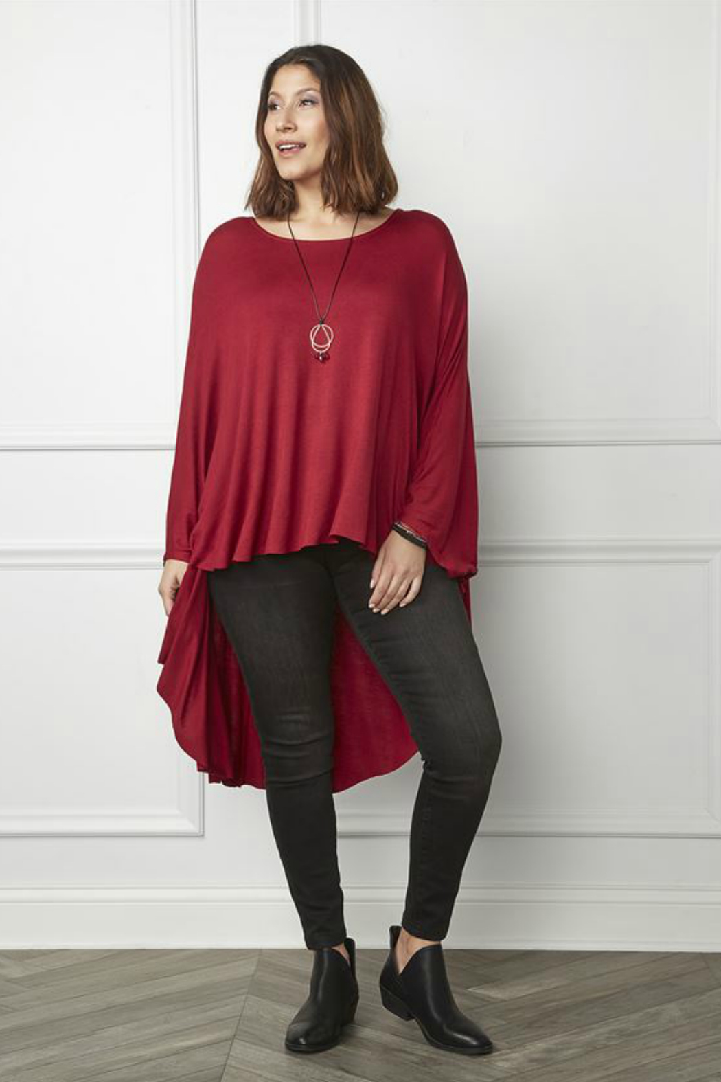 Coco + Carmen Dolman High-Low Cape - Front Full Image