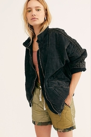 Free People Dolman Quilted Denim Jacket - Product Mini Image