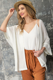 eesome Dolman Short Sleeve Cardigan - Front cropped