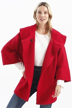 Charlie B. Dolman Sleeve Coat with Oversize Collar - Product List Image