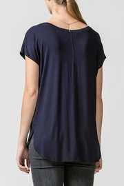 HYFVE Dolman sleeve curved hem top - Front full body