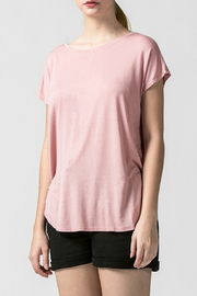 HYFVE Dolman sleeve curved hem top - Front cropped