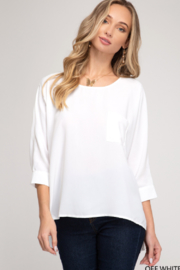 She and Sky Dolman Sleeve Front Pocket Top - Product Mini Image