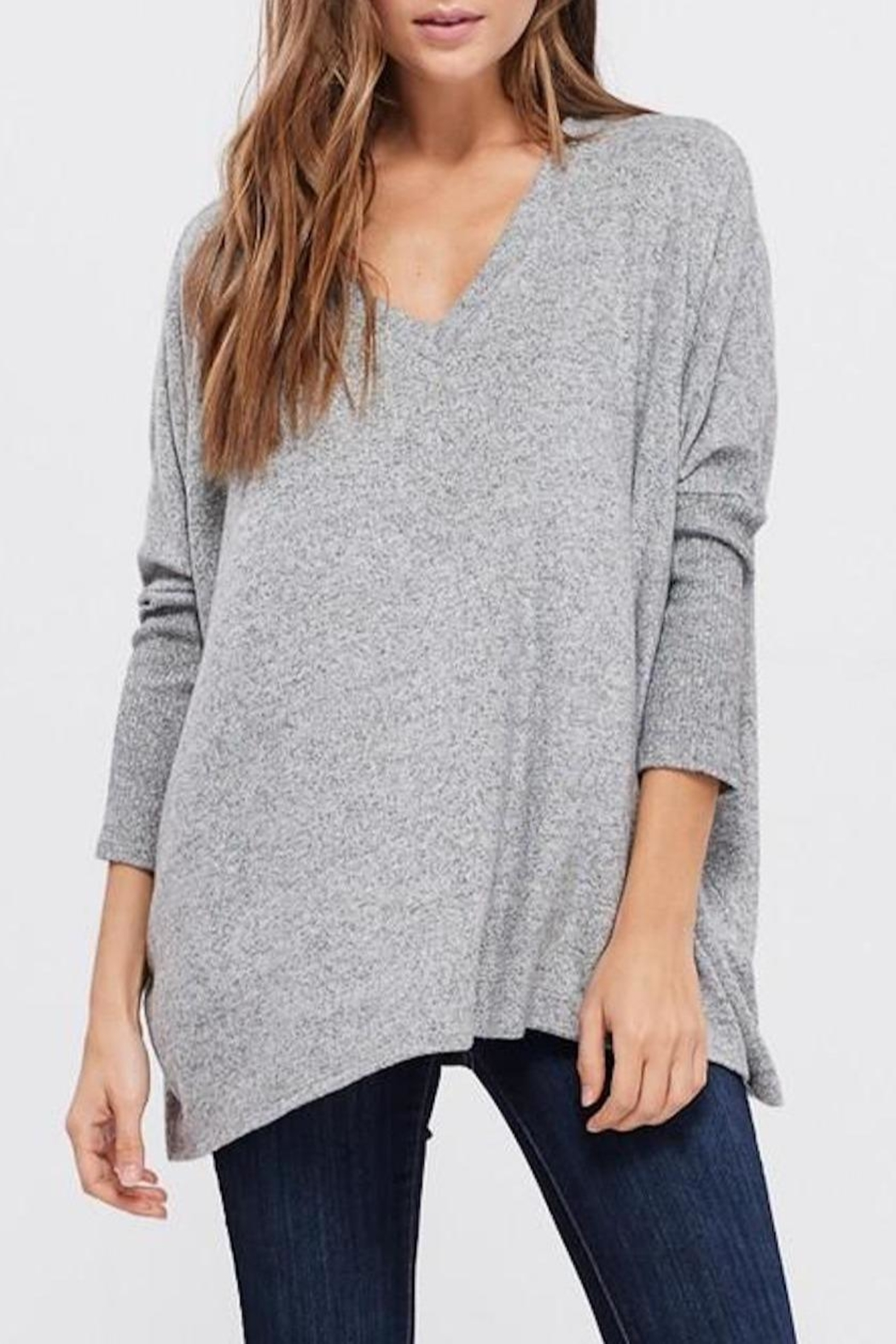 Cherish Dolman-Sleeve Knit Top - Front Cropped Image