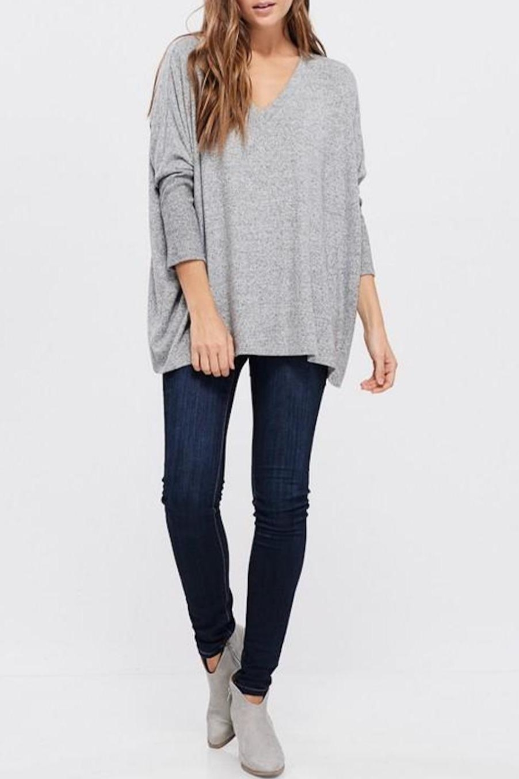 Cherish Dolman-Sleeve Knit Top - Side Cropped Image