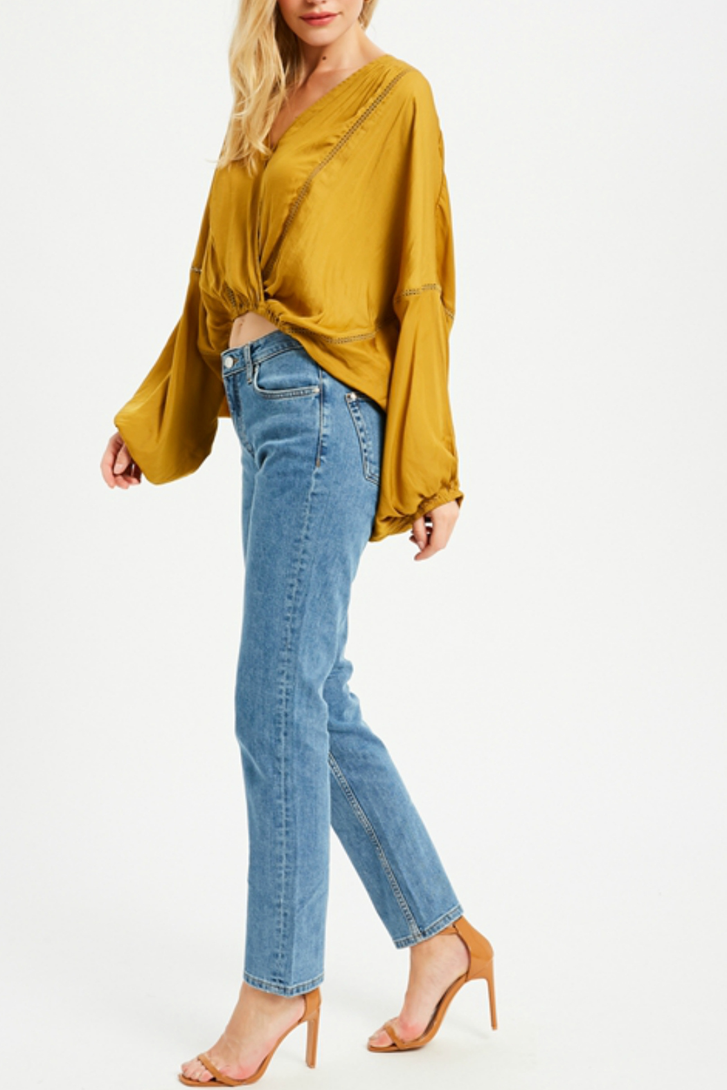 Wishlist DOLMAN SLEEVE SURPLICE BLOUSE - Front Cropped Image