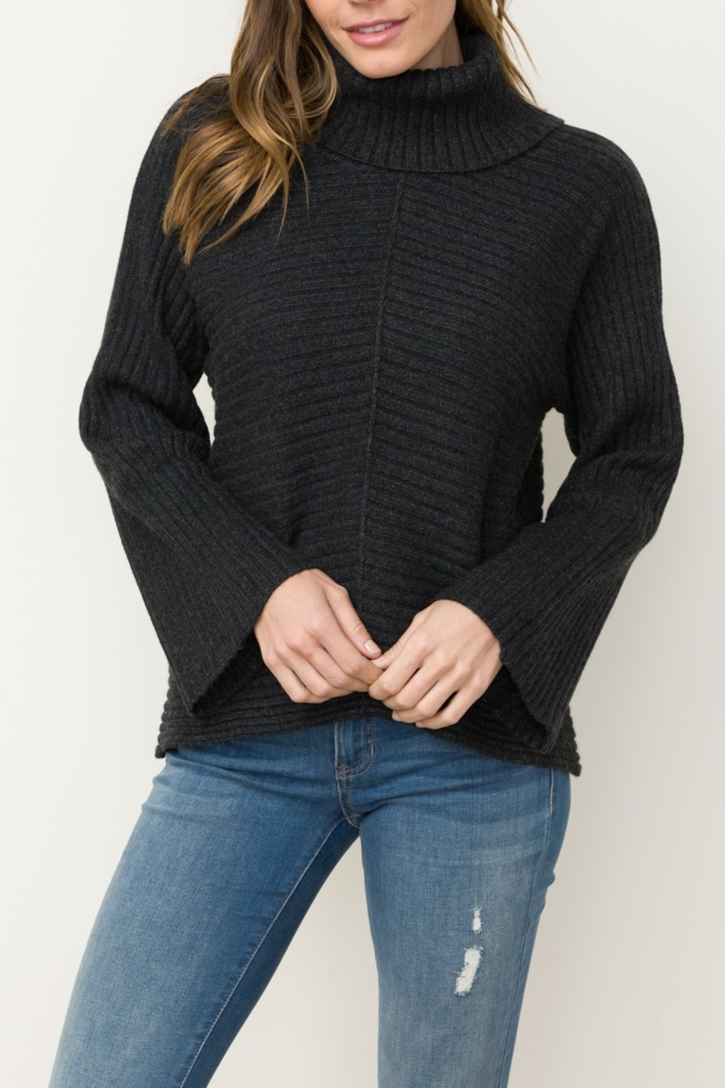 Mystree Dolman Sleeve Sweater - Front Cropped Image