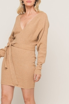 Lush  Dolman Sleeve Sweater Dress - Product List Image