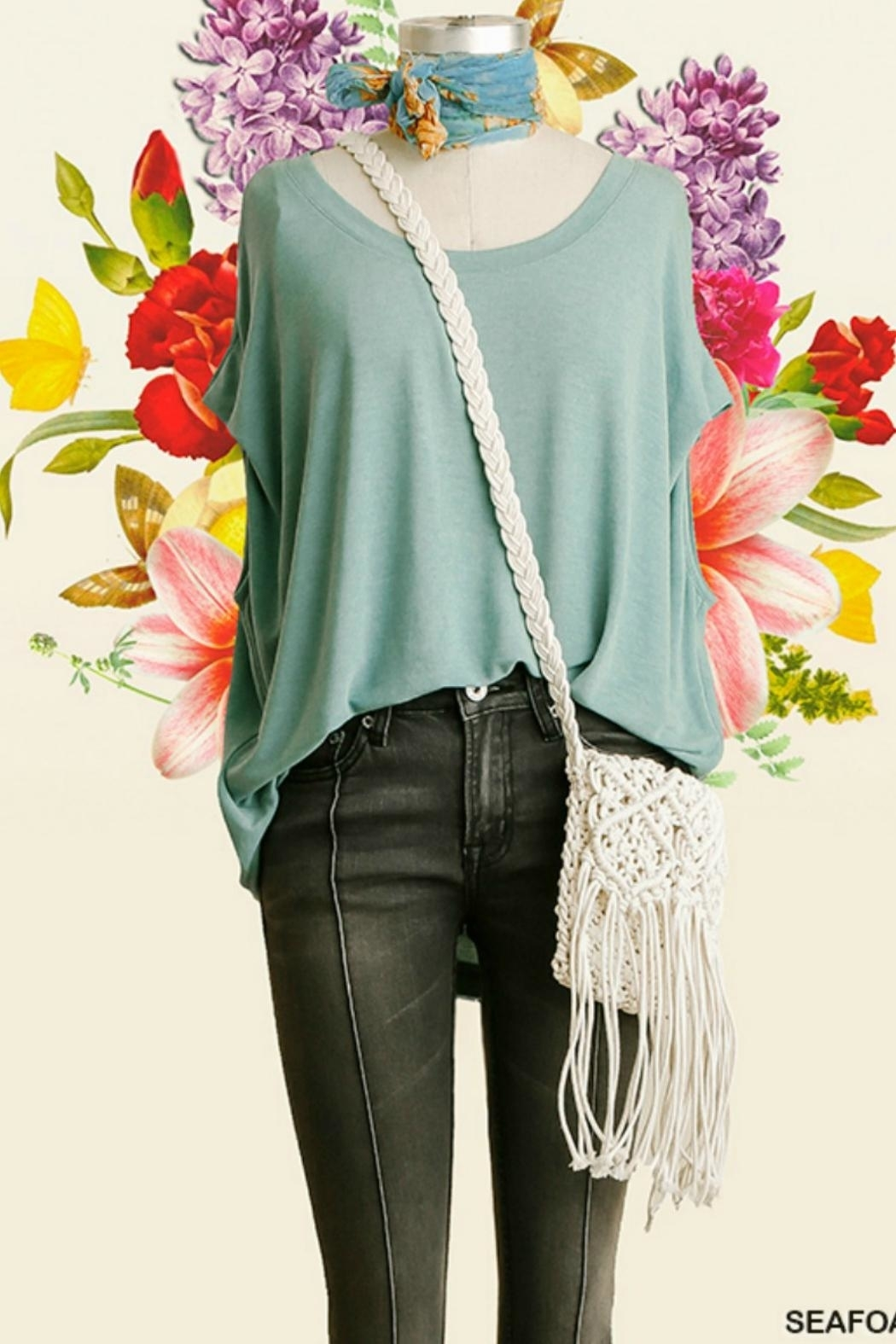 Umgee USA Dolman Sleeve Top - Front Cropped Image