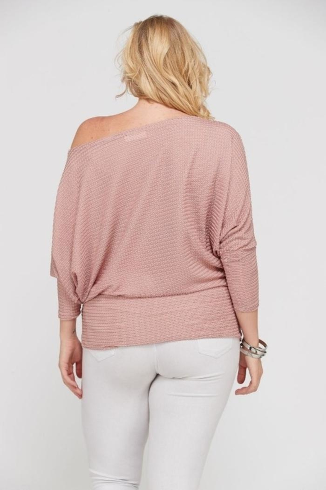 Janette Plus Dolman Sleeve Top - Back Cropped Image