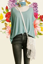 Umgee USA Dolman Sleeve Top - Front cropped