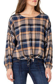Liverpool Dolman  sleeve top with tie front - Front cropped