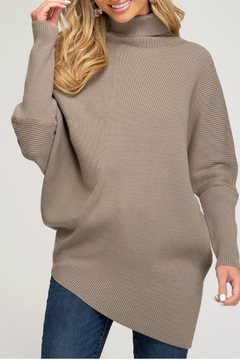 She + Sky DOLMAN SLEEVE TURTLE NECK - Product List Image